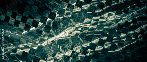 Photo abstract background with iridescent highlights, topics close to racing and speed