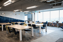 Modern Coworking Space With Ta...