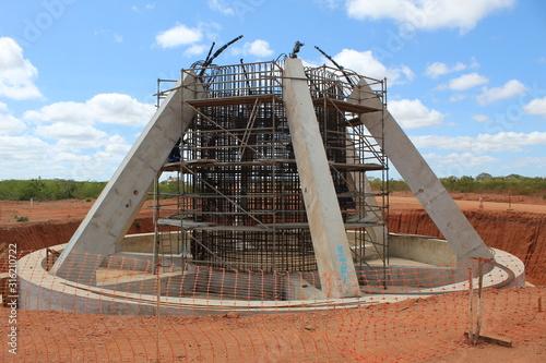 construção Fototapet