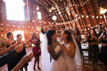 Wedding Guests With Sparklers ...