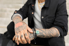 Young Man With Word Hope Tatto...