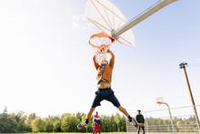 Action Shot Of Basketball Play...