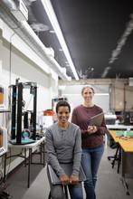 Portrait Of Mature Women In 3d Printing Studio