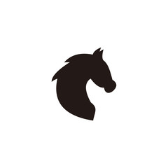 Black head horse vector icon illustration sign