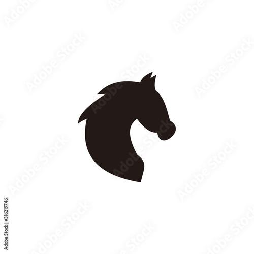 Fototapeta Black head horse vector icon illustration sign obraz