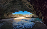 Hidden beach in the Marietas Islands at the mexican Pacific