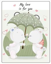 Kiss Teddy Bowls In The Rain