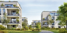 Modern Residential Buildings. ...