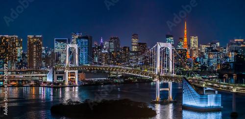 Stampa su Tela 東京 台場 レインボーブリッジ 夜景 ~Tokyo Daiba Night View~