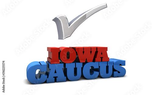 Obraz na plátně Iowa Caucus Election USA