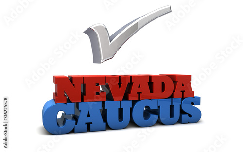 Fototapeta Nevada Caucus Election USA