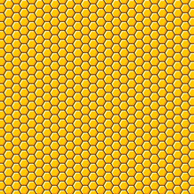 The Honeycomb Background. Honeycomb Background Illustration As Construction And Texture