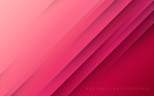 Modern Abstract Pink Background Diagonal Papercut Decoration