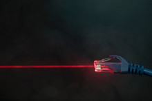 Red Laser Emitting From Comput...
