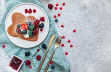 Romantic Breakfast On Valentin...