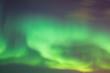 canvas print picture - beautiful aurora boreal in Lofoten Islands