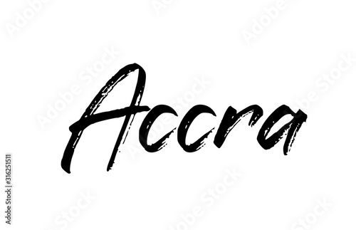 capital Accra typography word hand written modern calligraphy text lettering Wallpaper Mural