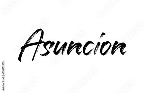 capital Asuncion typography word hand written modern calligraphy text lettering Wallpaper Mural