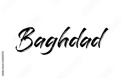Fotografija capital Baghdad typography word hand written modern calligraphy text lettering