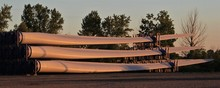 Wind Turbine Blades Ready For Shipping