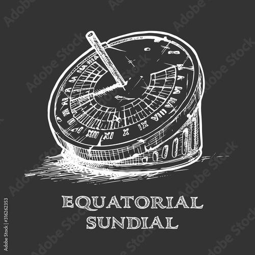 Fotomural hand drawn illustration of sundial.