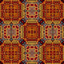 Abstract Geometric Fractal Pat...