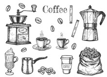 Coffee Objects Set To Make And...