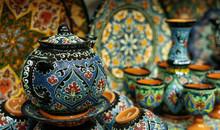 Ethnic Uzbek Ceramic Tableware...