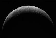 Crescent Of A Young Moon With ...