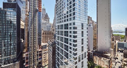 Fototapeta Panoramic view of Manhattan architecture, New York City, USA. obraz