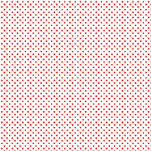 Small Red Polka Dots On White Pattern