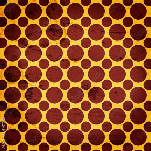 Grunge brown and yellow circles backdrop