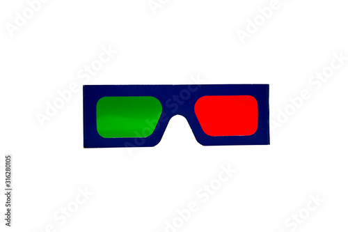 Photo Anaglyph 3D Red and Green Glasses