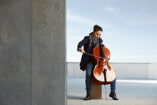 Beautiful Girl Plays The Cello...