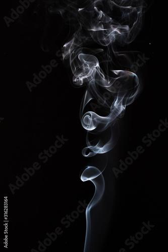 Obraz na plátně  forme astratte create con il fumo