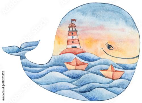 akwarela-recznie-malowane-kreskowki
