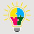 Idea lightbulb concept