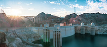 Panorama Of The Hoover Dam Fro...