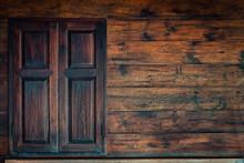 Old Grunge Wood Simple Window....
