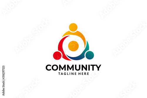 Fotografía community logo icon vector isolated