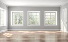 Classical Empty Room Interior ...