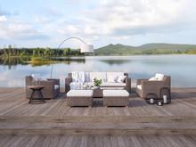 Outdoor Terrace Living Area Wi...