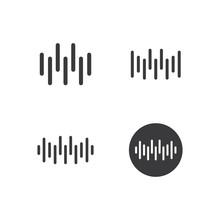 Sound Wave Ilustration Logo Ve...