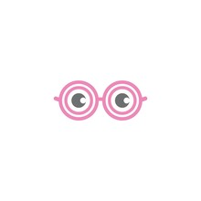 Eyeglasses Logo Vector Icon De...