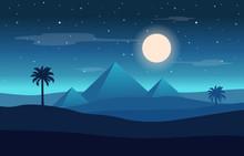 Full Moon Night Egypt Pyramid ...