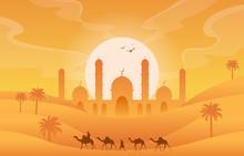 Golden Desert Islamic Mosque D...