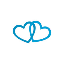 Isolated Blue Hearts Vector Design