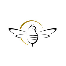 Simple Bee Hornet Logo Design ...