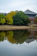 Autumn Landscape Of A Pond Nea...