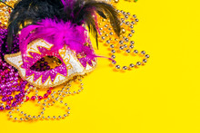 Festive Carnival Mask And Bead...